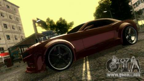 Chevrolet Camaro JR Tuning para GTA Vice City visión correcta