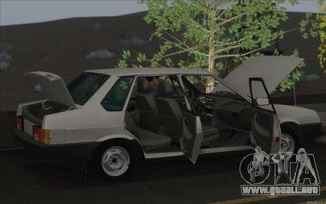 VAZ 21099 para visión interna GTA San Andreas