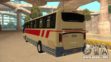 Davao Metro Shuttle 296 para GTA San Andreas vista hacia atrás