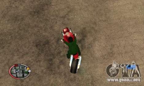 Tadpole Motorcycle para GTA San Andreas vista posterior izquierda