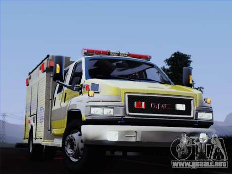 GMC C4500 Topkick BCFD Rescue 4 para vista inferior GTA San Andreas
