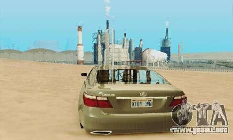 Lexus LS 600h L para la vista superior GTA San Andreas