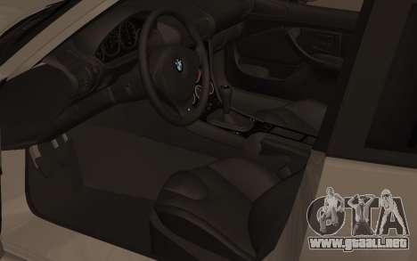 BMW Z3 M Power 2002 para GTA San Andreas vista hacia atrás
