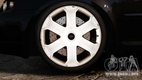 Audi S3 2001 para GTA 4 vista hacia atrás
