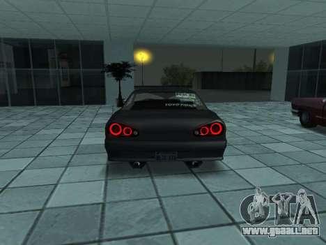 Elegy Skyline para GTA San Andreas vista posterior izquierda