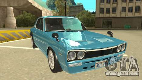 Nissan Skyline 2000 GT-R RB26DETT Black Revel para GTA San Andreas left