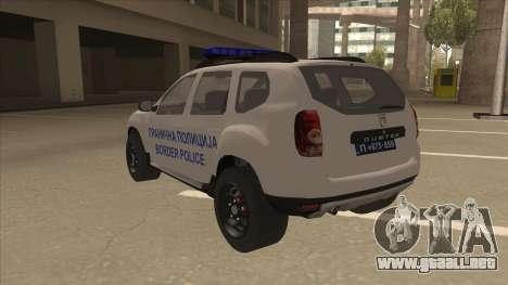 Dacia Duster Szkoła Granična fue para GTA San Andreas vista hacia atrás
