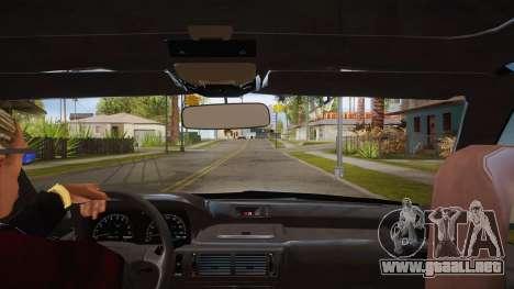El guión de CLEO: vista desde la cabina sin el t para GTA San Andreas segunda pantalla