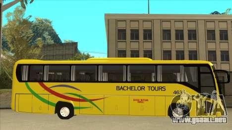 Kinglong XMQ6126Y - Bachelor Tours 463 para GTA San Andreas vista posterior izquierda