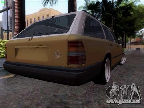 Mercedes-Benz E-Class W124 para GTA San Andreas vista posterior izquierda