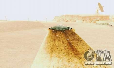 UFO Crash Site para GTA San Andreas segunda pantalla