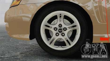 Hyundai Tiburon para GTA 4 vista hacia atrás