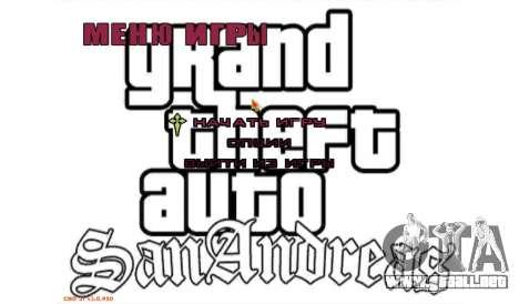 Nuevo menú para GTA San Andreas
