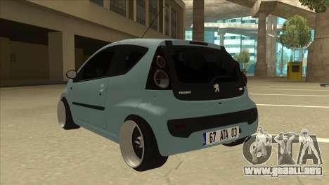 Peugeot 106 EuroLook para GTA San Andreas vista hacia atrás