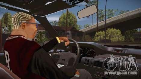El guión de CLEO: vista desde la cabina sin el t para GTA San Andreas tercera pantalla