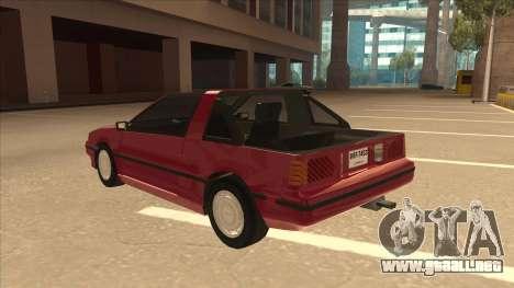 Nissan EXA L.A. Version para GTA San Andreas vista hacia atrás