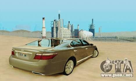 Lexus LS 600h L para vista lateral GTA San Andreas