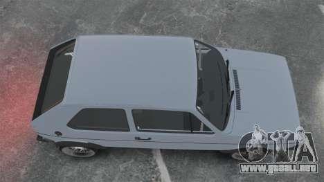 Volkswagen Golf MK1 GTI Update v1 para GTA 4 visión correcta