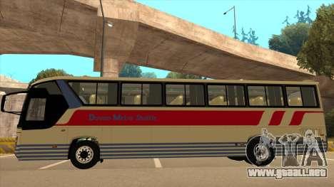 Davao Metro Shuttle 296 para GTA San Andreas vista posterior izquierda