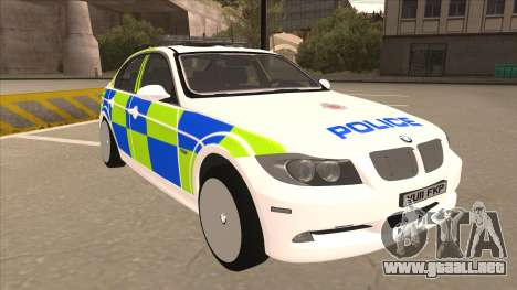 European Emergency BMW 330 para GTA San Andreas left