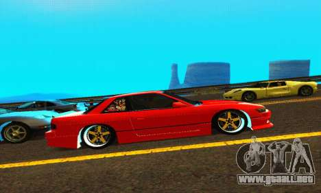 Nissan Silvia S13 HellaDrift para GTA San Andreas vista hacia atrás