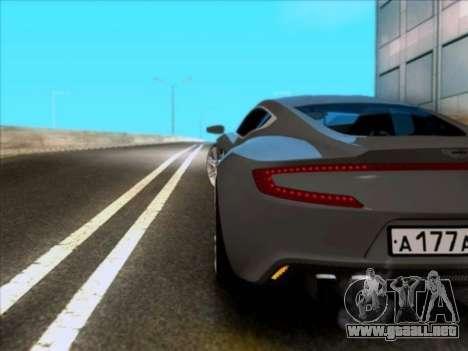 Aston Martin One-77 para la visión correcta GTA San Andreas