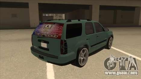 Chevrolet Tahoe Sound Car The Adiccion para la visión correcta GTA San Andreas