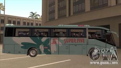 Higer KLQ6129QE - Super Fice Transport S 020 para GTA San Andreas vista posterior izquierda