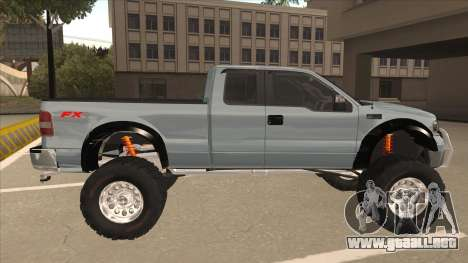 Ford F-150 EXT Off Road 2007 para GTA San Andreas vista posterior izquierda