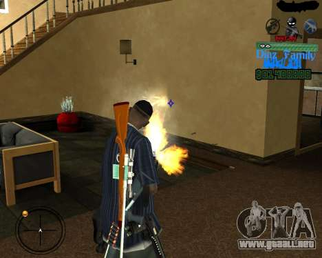 C-Hud for SA:MP para GTA San Andreas tercera pantalla