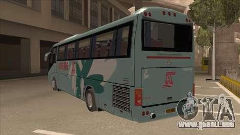 Higer KLQ6129QE - Super Fice Transport S 020 para GTA San Andreas vista hacia atrás
