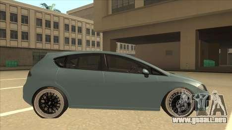 Seat Leon Clean Tuning para GTA San Andreas vista posterior izquierda