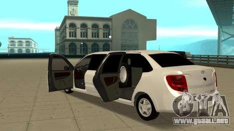 Lada Granta Limousine para visión interna GTA San Andreas