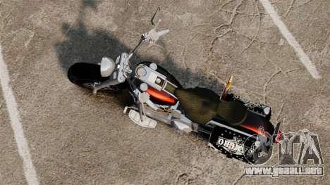 Harley-Davidson para GTA 4 Vista posterior izquierda