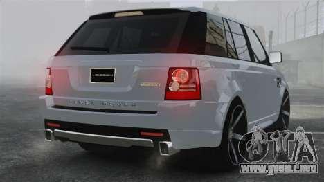 Range Rover Sport Autobiography 2013 Vossen para GTA 4 Vista posterior izquierda