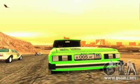 ZAZ 968 Cabriolet Tuning para GTA San Andreas vista hacia atrás