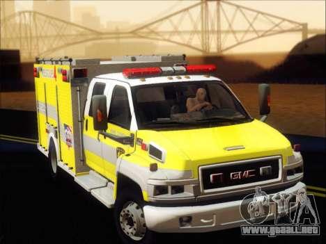 GMC C4500 Topkick BCFD Rescue 4 para GTA San Andreas left