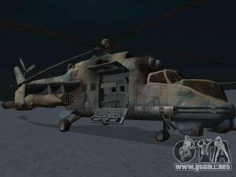 El MI-24p para GTA San Andreas left