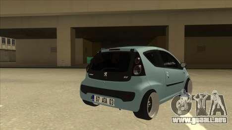 Peugeot 106 EuroLook para la visión correcta GTA San Andreas