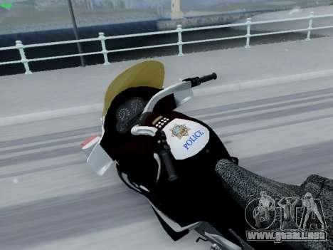 BMW K1200LT Police para GTA San Andreas left