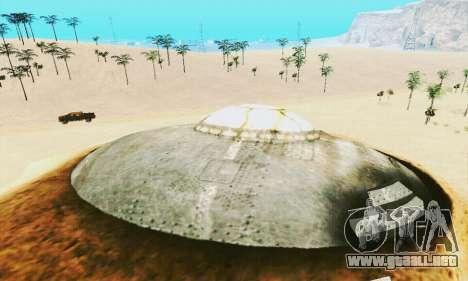 UFO Crash Site para GTA San Andreas quinta pantalla