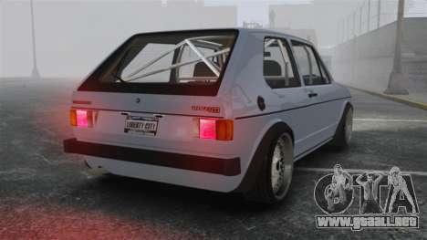 Volkswagen Golf MK1 GTI Update v1 para GTA 4 Vista posterior izquierda