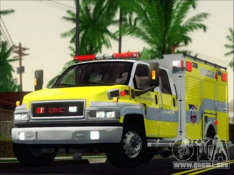GMC C4500 Topkick BCFD Rescue 4 para GTA San Andreas