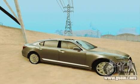 Lexus LS 600h L para vista inferior GTA San Andreas