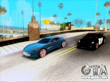 Aston Martin One-77 para vista lateral GTA San Andreas