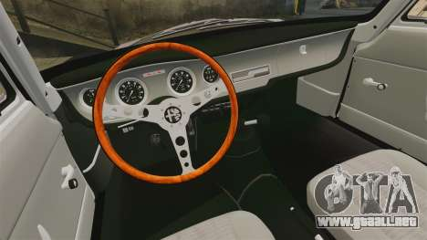 Alfa Romeo Giulia 1965 Sprint GTA Stradale para GTA 4 vista interior