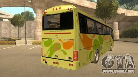 Higer KLQ6129QE - Super Five Transport S 023 para la visión correcta GTA San Andreas