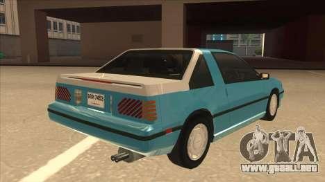 Nissan EXA L.A. Version para vista inferior GTA San Andreas