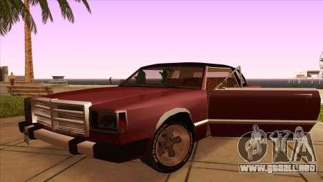 Feltzer C107 coupe para visión interna GTA San Andreas
