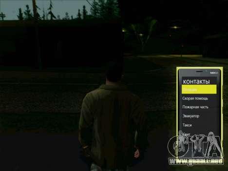 Telefónica interactiva para GTA San Andreas segunda pantalla